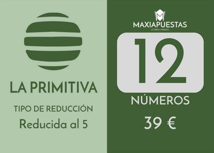 Sistema reducido de la Primitiva. 12 números por 39 apuestas.