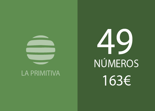 Primitiva - 49 num. for 3 hits - 163,00 Euros