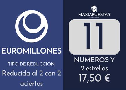 Sistema reducido del gordo de la primitiva. 13 números por 8 apuestas.