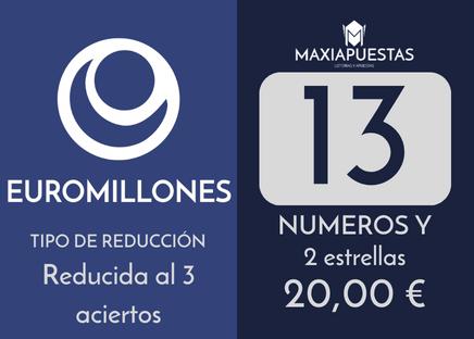 Sistema reducido del gordo de la primitiva. 12 números por 9 apuestas.