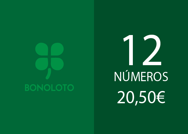 Bonoloto - 12 num. for 4 if 4 hits - 20,50 Euros