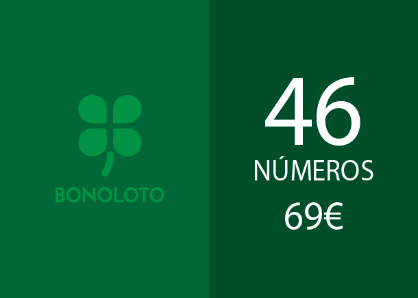 Bonoloto - 46 num. for 3 hits - 69,00 Euros