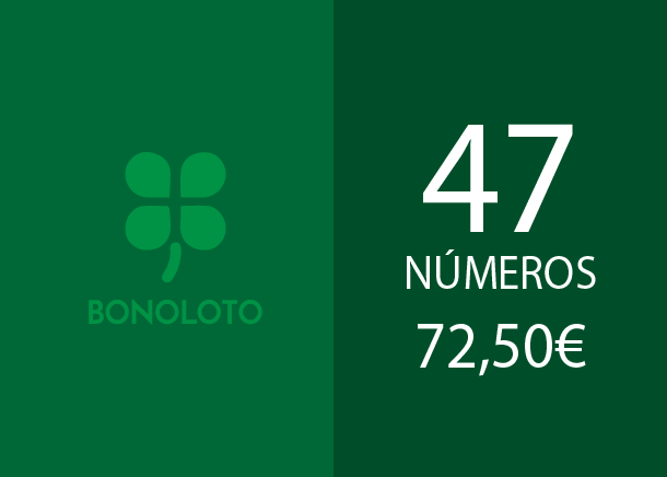 Bonoloto - 47 num. for 3 hits - 72,50 Euros