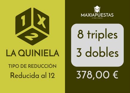 La Quiniela reducida de 8 triples y 3 doble record al 12