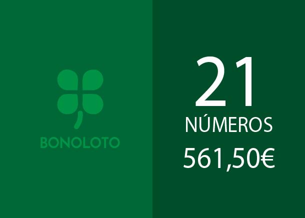 Bonoloto reducida de 21 números al 5