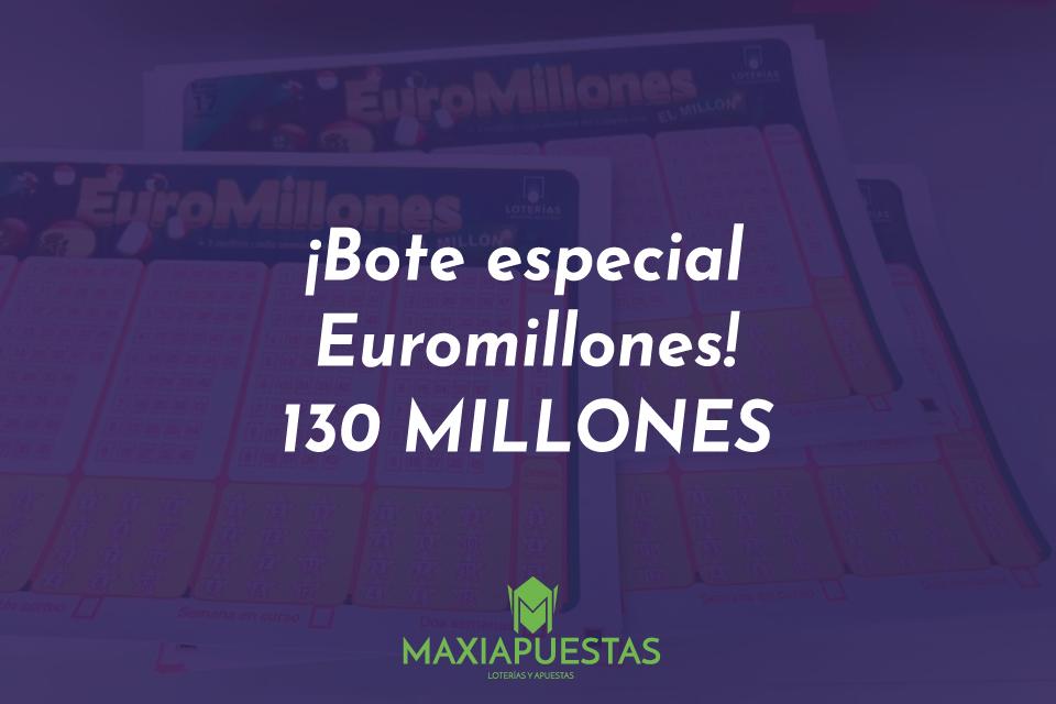 Bote especial de Euromillones 130 millones