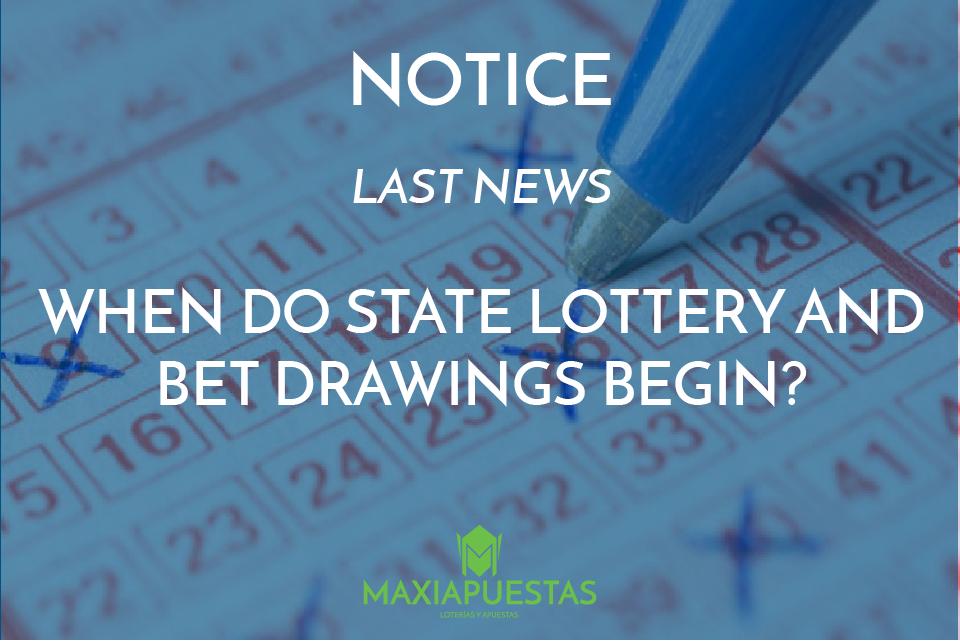 Start of lottery draws