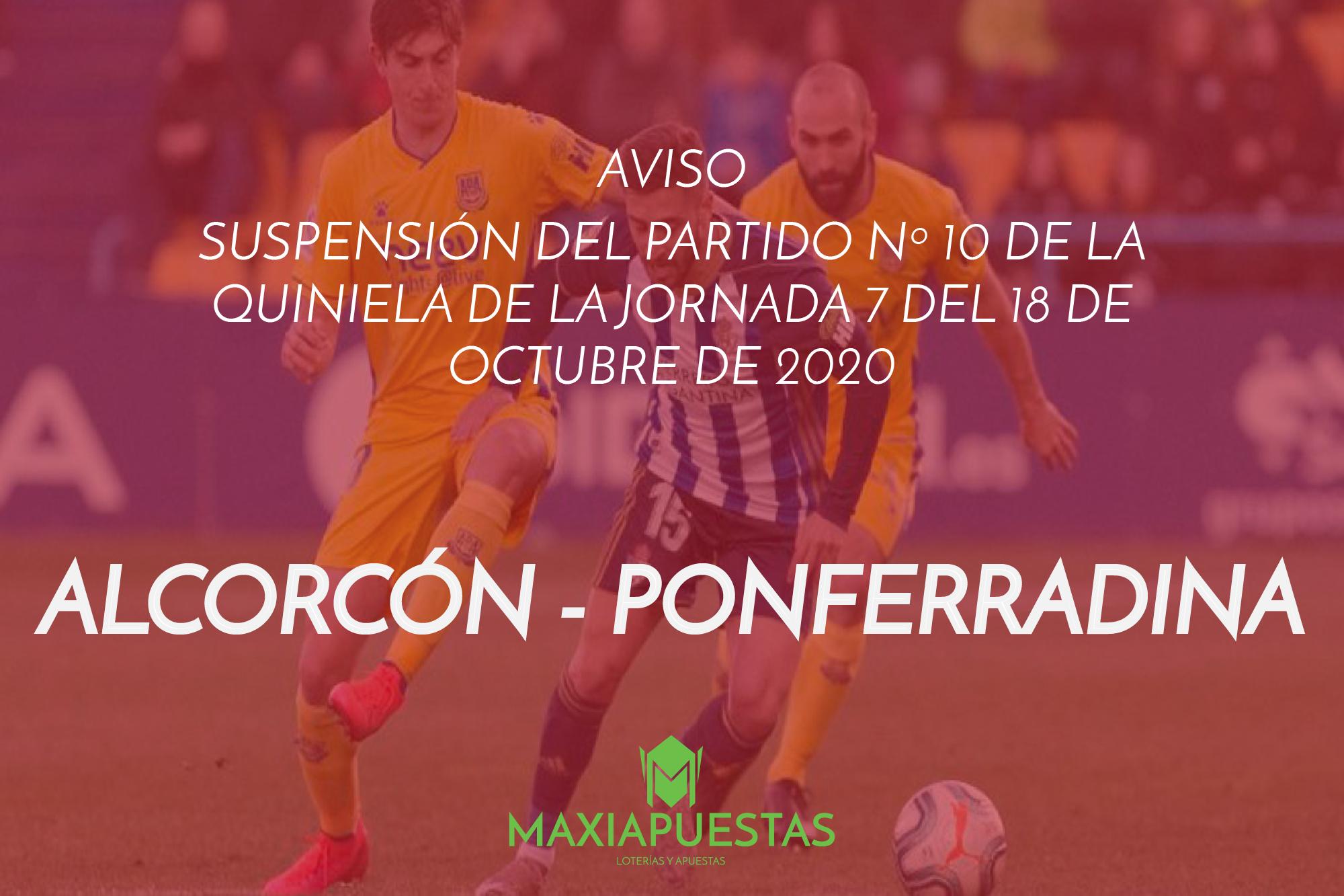 """Supensión del encuentro """"ALCORCÓN - PONFERRADINA"""""""