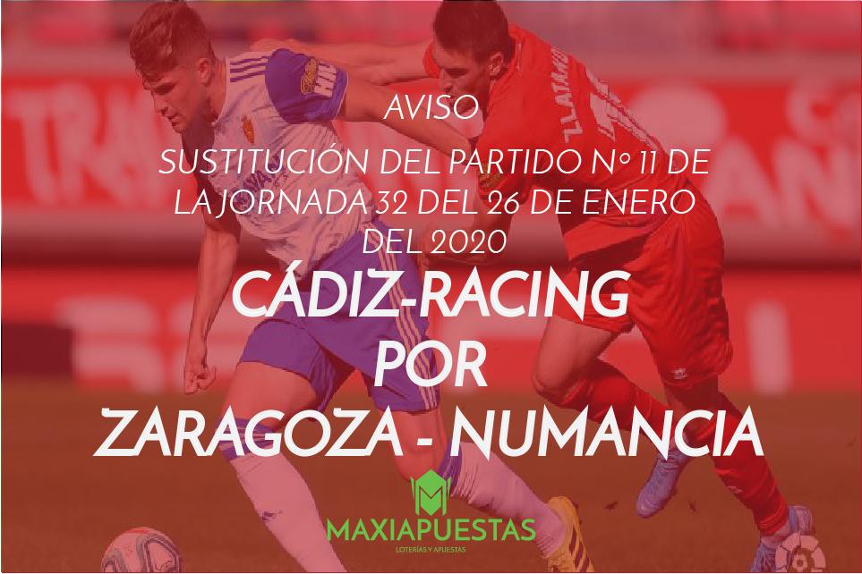 Aplazamiento CÁDIZ-RACING