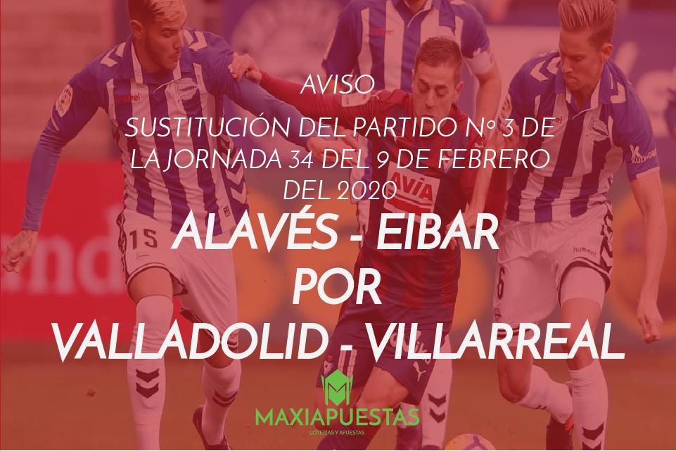 Sustitución Alavés -Eibar