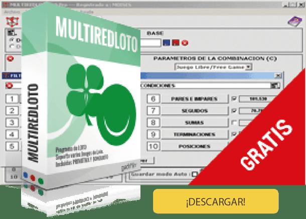Descargar Multiredloto. Software para hacer combinaciones de la Bonoloto.