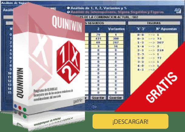 Descargar Quiniwin. Software para hacer combinaciones de La Quiniela.