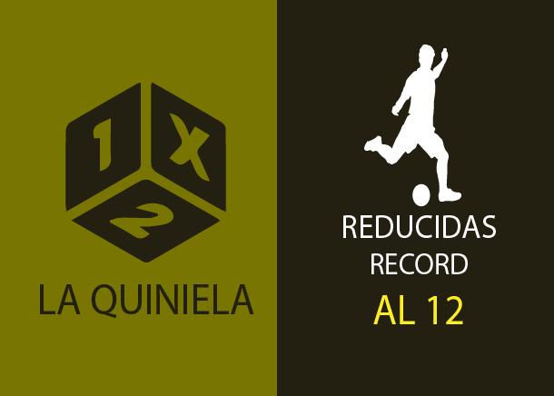 Tabla de reducciones récord de la quiniela al 12