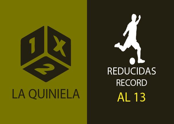 Table of reductions record of the quiniela al 13